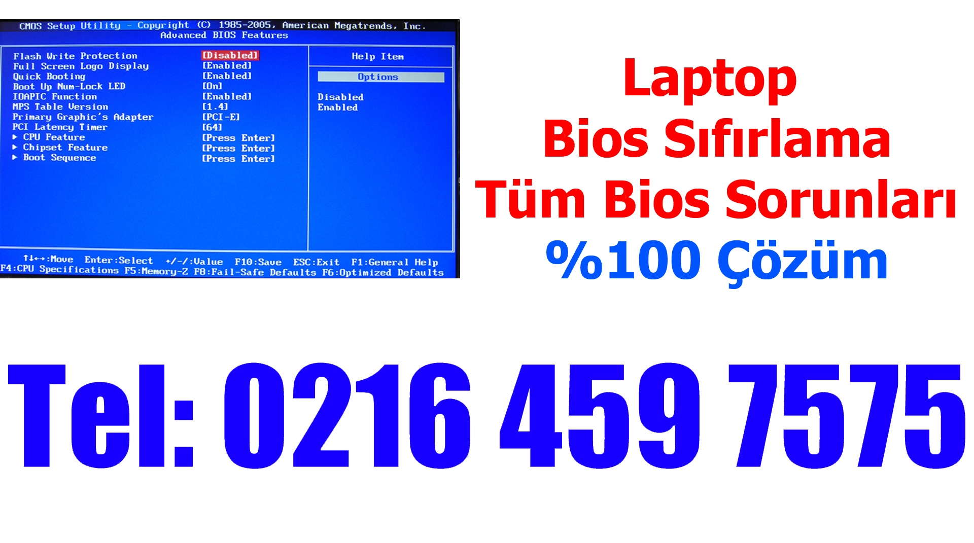Laptop Anakart Bios Sıfırlama